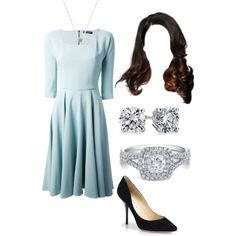 Fancy day out #1 by little-corners on Polyvore featuring moda, Dolce&Gabbana, Jimmy Choo, Blue Nile and White House Black Market