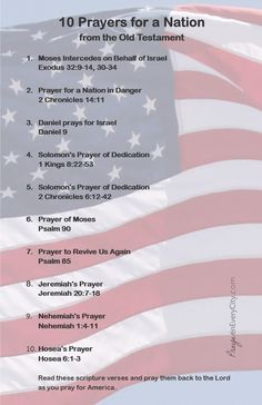 Free Printable for Prayer Journal. 10 Prayers for a Nation.