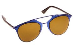 b62cf69ac9d Christian Dior Reflected Sunglasses M2XA6 Blue Black Frame   Brown Lens