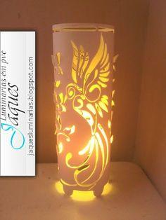 luminárias de pvc beija flor