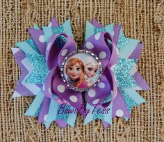 Anna and Elsa Frozen Inspired Boutique Bow