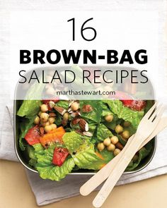 All of these lunch salads are perfect for packing and taking to work or school, or on a picnic. Choose from 20 recipes, including favorites such as salade Nicoise, Waldorf salads, Asian noodle salad, and chicken salad.
