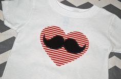 ADORABLE! GroopDealz | Mr. Valentine Mustache Shirt/Onesie