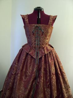 Elizabethan Renaissance Gown Dress Costume Bodice and Skirt Outfit, ready to…