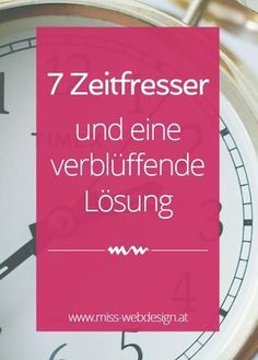 7 Zeitfresser, die dir deine Arbeit schwermachen (und eine verblüffend einfache Lösung) | miss-webdesign.at (scheduled via http://www.tailwindapp.com?utm_source=pinterest&utm_medium=twpin&utm_content=post100662905&utm_campaign=scheduler_attribution)