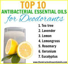 Top 10 Antibacterial Essential Oils for Deodorant