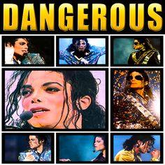 Michael Jackson - Dangerous collage