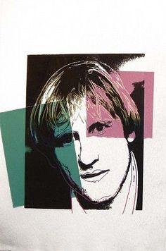 Gerard Depardieu, 1986 by Andy Warhol #PopArt