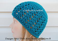 designing a custom crochet hat