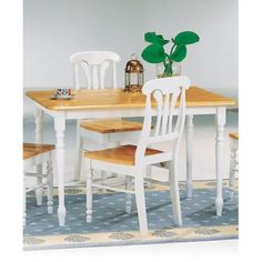Damen Rectangle Leg Dining Table by Coaster - 4147