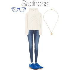 Geek-Inspired Outfit: Sadness from Inside Out by a-geek-in-la on Polyvore featuring rag & bone, A.P.C. and Derek Lam
