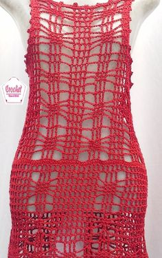 super trendy By ordering every core . Red Crochet Dress, Crochet Cover Up, Crochet Baby, Crochet Bikini, Knit Crochet, Crotchet Patterns, Crochet Stitches, Crochet Fashion, Yarn Needle