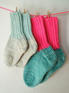 Whits Knits: Toddler Socks - Knitting Crochet Sewing Crafts Patterns and Ideas! - the purl bee