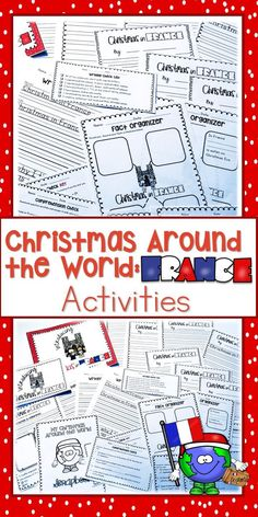 This unit is full of Christmas Around the World Activities for Elementary Students.  This unit covering Christmas in France will make your Christmas Around the World study a breeze.  Students can read, research, and write with a variety of different tools in this set.