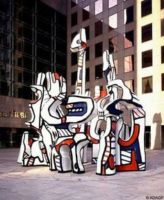 Jean Dubuffet | Monument With Phantom | 1983