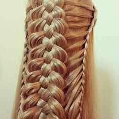 feathered lace + dutch 5 st braid