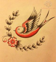 Bird and flower tattoo, flower wrist tattoos, rose tattoos, vintage bir Little Flower Tattoos, Bird And Flower Tattoo, Flower Wrist Tattoos, Flower Tattoo Shoulder, Vintage Bird Tattoo, Vintage Birds, Body Tattoos, Sleeve Tattoos, Tattoo Sleeve Cover Up