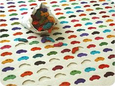 Colorful & Modern Play Carpets for Kids - Handmade Charlotte Car Carpet, Rugs On Carpet, Casa Kids, Carpets For Kids, Tapis Design, Eclectic Rugs, Textiles, Home Deco, Kid Spaces