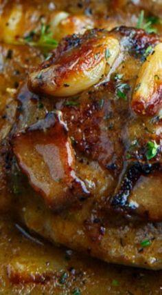 Rustic Roasted Garlic Chicken with Asiago Gravy