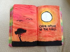 Colour outside of the lines - wreck this journal