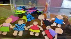 muñecas recortables de fieltro y goma eva