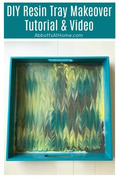 How to do a Resin Pour with a beautiful Ebru Marbling pattern. Easy step by step video and tutorial. DIY resin home decor project.