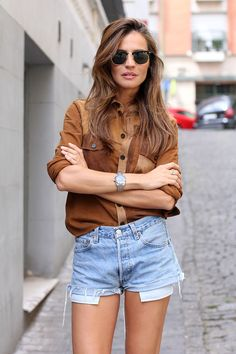 patchwork suede shirt looks - Lady Addict