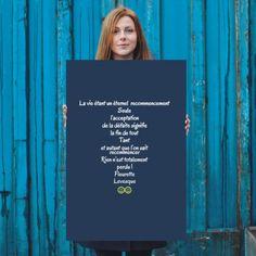 """In-your-face Poster """"La vie étant un éternel  recommencement seule l'acceptation de la défaite signifie la fin de..."""" #1166824 - Behappy.me"""