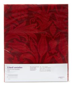 Liberty Art Fabrics Merton Sunflower Claret Ready Made Curtain Set 167cm x 137cm | Home | Liberty.co.uk