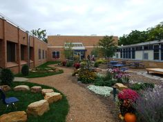 Love the gravel pathway, the Boulder circular seating , and the garden space looks like a manageable starting garden