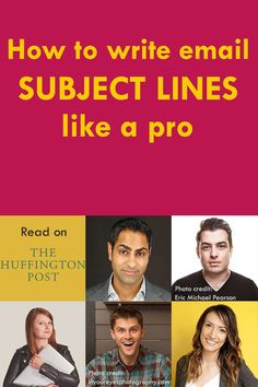 How to write email subject lines that work? Learn from the best! Email marketing masters such as Ramit Sethi Derek Helpern Mariah Coz Charlie Hoehn and Melyssa Griffin offer their examples in this Huffington Post article on email subject lines. Email Marketing Strategy, E-mail Marketing, Business Marketing, Content Marketing, Online Marketing, Online Business, Digital Marketing, Internet Marketing, Business Tips