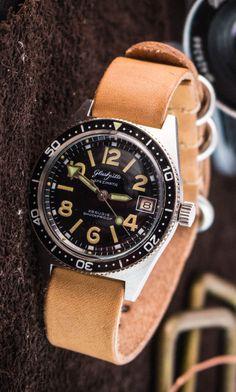Vintage Glashütte Spezimatic diver watch, automatic steel diver, Glashütte cal…
