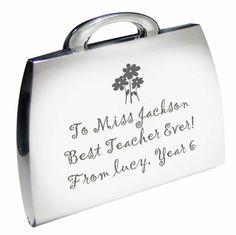 Engraved Teacher's Handbag Compact Mirror