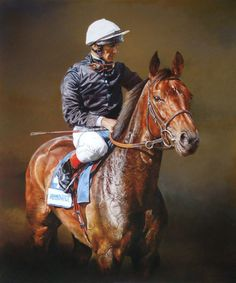 Ouija Board and Frankie Dettori Limited Edition Horse Racing Print by Sean McMahon