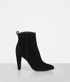 Womens Madlyn Suede Boot (Black) - product image alt text 2 f933d82910f