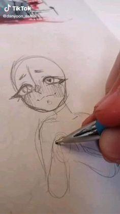 Art Drawings Sketches Simple, Cute Drawings, Cute Halloween Drawings, Crazy Drawings, Tumblr Drawings, Random Drawings, Body Sketches, Girl Drawing Sketches, Baby Drawing