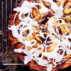 Apple Cinnamon Rolls with Jack Daniels Cream Cheese Icing by foodiebride, via Flickr