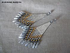 Handmade Bohostyle Bohemian boho chic woven Miyuki beads