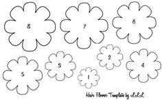 Printables 6 Petals Flowers Templates | The Lovely Life of Lindsay: Baby Hair Flowers