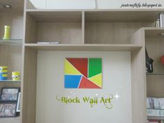 Simple Block wall Art to enhance one's living room For detailed procedure visit, http://justcraftify.blogspot.in/2016/02/simple-block-wall-art.html