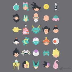 Dragon Ball in 30 icons // #graphicroozane #dragonball #dragonballz #dragonballsuper #goku #friends #zwarriors #villains #characters #icon #icons #iconaday #shenlong #dragon #ball #monsters #vector #illustration #design #legends #saiyan #anime #manga by vivaracho_studio - Visit now for 3D Dragon Ball Z compression shirts now on sale! #dragonball #dbz #dragonballsuper