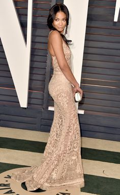 Chanel Iman from 2015 Oscars After-Party Looks (Plus Viewing Parties!)  In Zuhair Murad Couture.