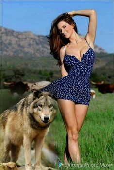 American Indian Girl, Native American Girls, Native American Beauty, Animals Beautiful, Beautiful Women, Wolves And Women, Wolf Love, Wolf Girl, Girl And Dog