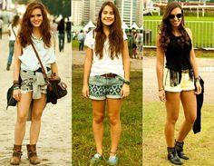 Moda rua - Shorts estampados e coloridos