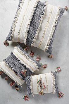 Anthropologie Tasseled Retrograde Pillow