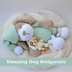 Sleeping Dog Amigurumi - Free Pattern