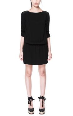 FAUX LEATHER COMBINATION DRESS from Zara 60$ I want this... I love the minimalism vibe, I'd wear this with pumps, a cat eye and red lips...good to go!