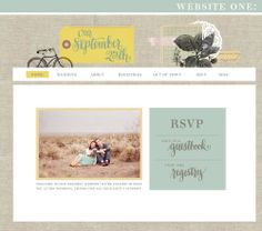 wedding website...