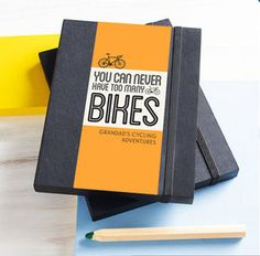 Personalised Bike Notebook - shop by recipient