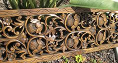 1'x6' Floral Teak Wood Panel $289.